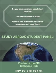 Study Abroad Student Panel