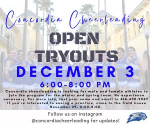 Concordia Cheerleading Tryouts